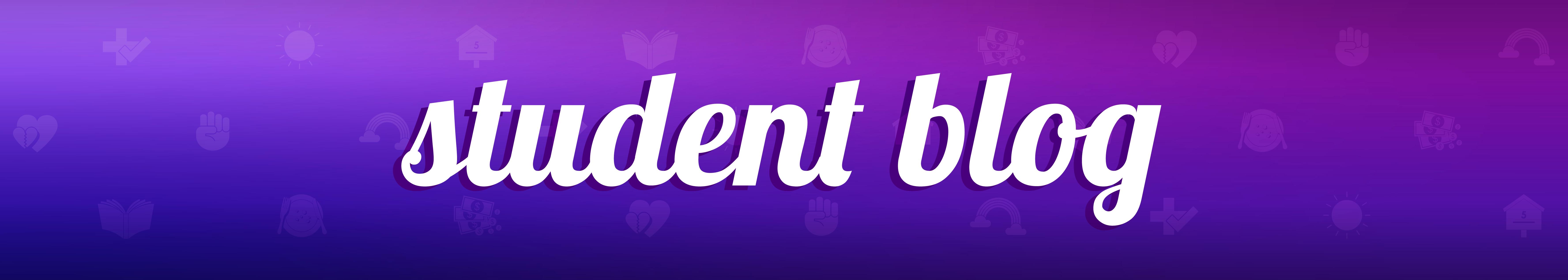 student blog banner
